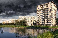 City before the downpour Stock Images