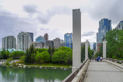 City and Downtown of Calgary Stock Photography
