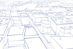City drawing Stock Image