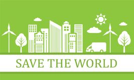Green ecological city Stock Image