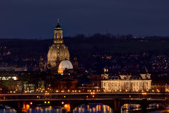 The City Of Dresden By Night, Germany Stock Photography