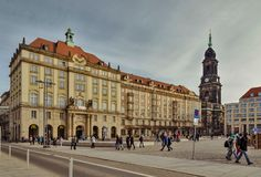 City of Dresden. Saxony. Germany. Center of the old city. royalty free stock photos