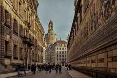 City of Dresden. Saxony. Germany. Center of the old city. stock photo