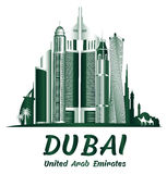 City of Dubai UAE Famous Buildings Royalty Free Stock Photos