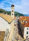 City of Dubrovnik road stock image