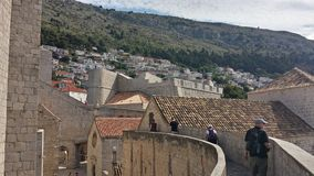 City of Dubrovnik and Wall, Croatia Royalty Free Stock Images