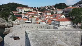 City of Dubrovnik and Wall, Croatia Royalty Free Stock Photography