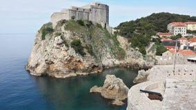 City of Dubrovnik and Wall, Croatia Stock Photos
