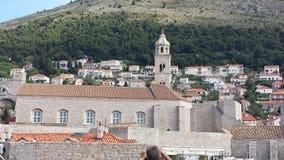 City of Dubrovnik and Wall, Croatia Stock Image