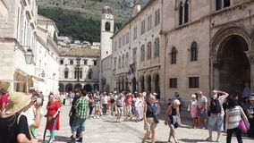 City of Dubrovnik and Wall, Croatia Royalty Free Stock Photos