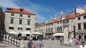 City of Dubrovnik and Wall, Croatia Stock Photo