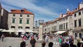 City of Dubrovnik and Wall, Croatia Royalty Free Stock Photo