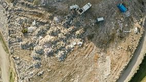 City dump household waste. Aerial photography. City dump household waste. Aerial photography stock footage