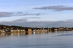 City of Dundee, Scotland seen from the river Stock Photography