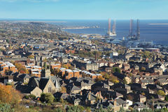 City of Dundee. View over City of Dundee in Scotland Royalty Free Stock Images