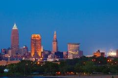 City at dusk Royalty Free Stock Image