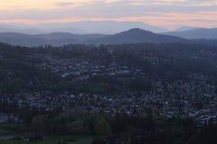 City in dusk Royalty Free Stock Photos