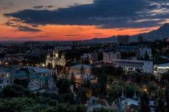 City at dusk. Stock Photography