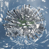 City Earth with Clouds Stock Image