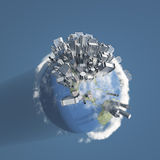 City Earth with Clouds Royalty Free Stock Photos