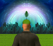 City Eco Mind Stock Image