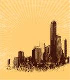 City on edge Royalty Free Stock Image