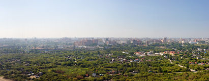 City edge. Huge landscape panorama with urban and non urban details Stock Photography