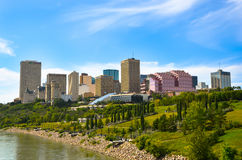 City of Edmonton in Summer. This picture showcases the City of Edmonton, the core of downtown business and arts district Royalty Free Stock Photography