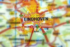 City of Eindhoven - Netherlands. Eindhoven is a city in the south of the Netherlands Europe royalty free stock photos