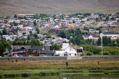 City of El Calafate, Argentina. City of El Calafate view from the Laguna Nimez, Patagonia, Argentina. El Calafate is situated in the southern border of Lake royalty free stock photography