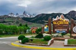 El Chalten, Argentina. The city of El Chalten Royalty Free Stock Photography