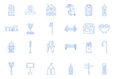 City elements icons Royalty Free Stock Images
