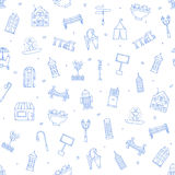 City elements icons pattern Royalty Free Stock Photo