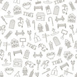 City elements icons pattern Royalty Free Stock Image