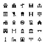 City Elements Vector Icons 5 Royalty Free Stock Photography