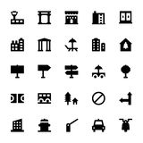 City Elements Vector Icons 8 Stock Photography