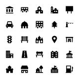 City Elements Vector Icons 3 Royalty Free Stock Photos