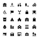City Elements Vector Icons 7. Elements of the modern city. Design your own town. Map elements for your pattern, web site or other type of design Stock Photos