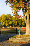 City ​​embankment in autumn Stock Photo