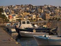 The city embankment of sitia Stock Photo