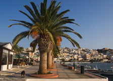 The city embankment of sitia Royalty Free Stock Photography