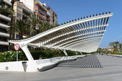 City embankment in Torrevieja Royalty Free Stock Photo