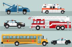 City emergency transport isolated set Royalty Free Stock Photography