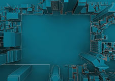 City with an empty place. Top view Royalty Free Stock Photography