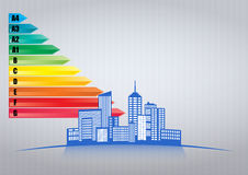City energy efficiency Royalty Free Stock Images