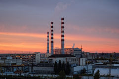 City Energy and Warm Power Factory in twilight Stock Images