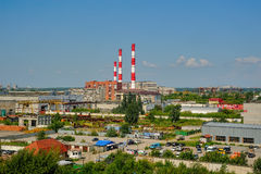 City Energy and Warm Power Factory. Tyumen Stock Images