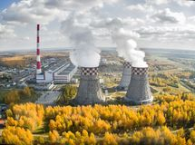City Energy and Warm Power Plant. Tyumen. Russia Stock Photo