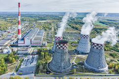 City Energy and Warm Power Plant. Tyumen. Russia Stock Image