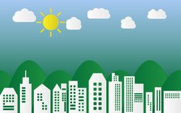 City environment and ecosystem, illustration.  Stock Photography